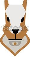 Link toCartoon dog face vector