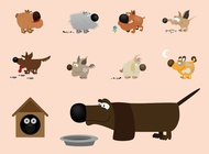Link toCartoon dogs vector free