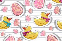 Link toCartoon duck stickers vector
