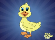 Cartoon duck vector free