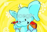 Link toCartoon elephant map vector