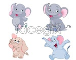 Link toCartoon elephant vector