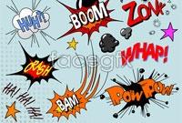 Link toCartoon explosion five pattern vector