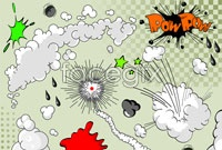 Link toCartoon explosion logo vector ii