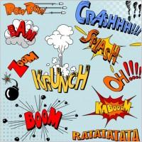 Link toCartoon explosion pattern 03 vector
