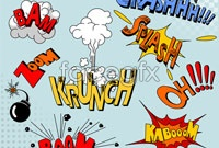 Link toCartoon explosion three pattern vector