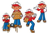 Link toCartoon express character vector