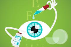 Link toCartoon eye drops design vector