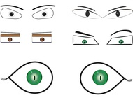 Link toCartoon eyes vector free