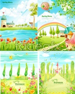 Link toCartoon fairy tale landscape vector