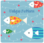 Link toCartoon fish background vector