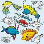 Link toCartoon fish vector