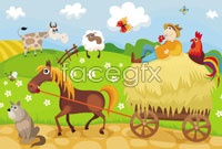 Link toCartoon five farm vector