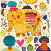 Link toCartoon flower and elephants vector 01 free