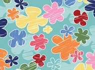 Link toCartoon flowers background vector free