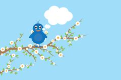 Cartoon flowers birds vector