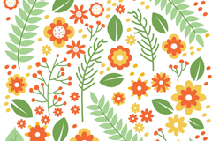 Link toCartoon flowers seamless vector background