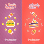 Link toCartoon food banner vector