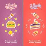 Cartoon food banner vector