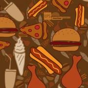 Link toCartoon food pattern design vector 03 free