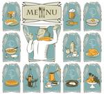 Link toCartoon food patterns vector
