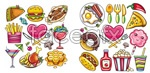 Link toCartoon food vector