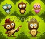 Link toCartoon forest owls vector