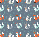 Link toCartoon foxes seamless background vector