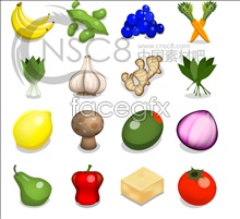 Link toCartoon fruit and vegetables desktop icons