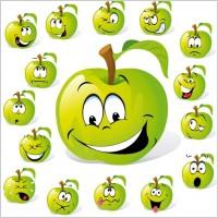 Link toCartoon fruit expression 01 vector