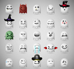 Link toCartoon ghost icons vector