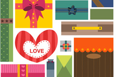 Link toCartoon gift package ornament vector