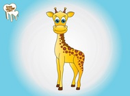 Link toCartoon giraffe graphics vector free