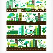 Link toCartoon green city elements vector 01 free