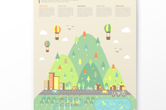Link toCartoon green ecological information vector
