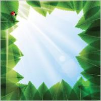Link toCartoon green leaf background vector