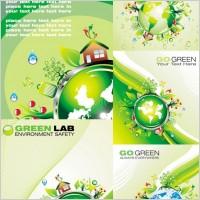Link toCartoon green polar coordinates vector
