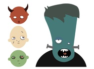 Link toCartoon halloween monsters vector free