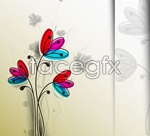 Link toCartoon hand-painted flowers vector