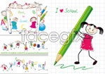Link toCartoon hand-painted students vector