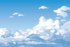 Link toCartoon high altitude clouds landscapes vector