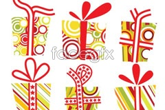 Link toCartoon holiday gifts vector