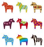 Link toCartoon horse pattern vector
