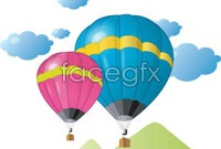 Link toCartoon hot air balloon vector