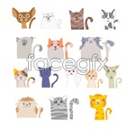Link toCartoon illustration cat vector