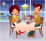 Cartoon illustration of the family 2 vector