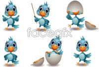 Link toCartoon image of birds vector