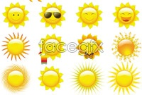 Link toCartoon images of the sun vector art pack