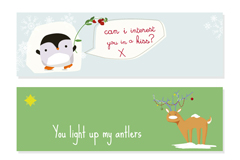 Link toCartoon kid stuff animals christmas banner vector