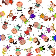 Link toCartoon kids seamless pattern design vector free
